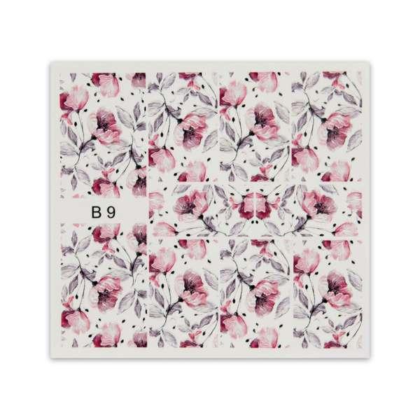Nailart Sticker 3D - B9