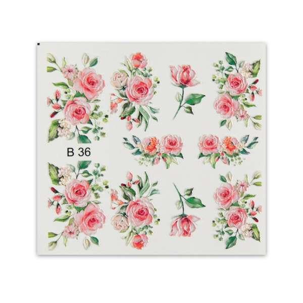 Nailart Sticker 3D - B36