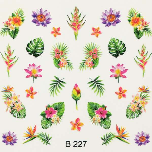 Nailart Sticker 3D - B227