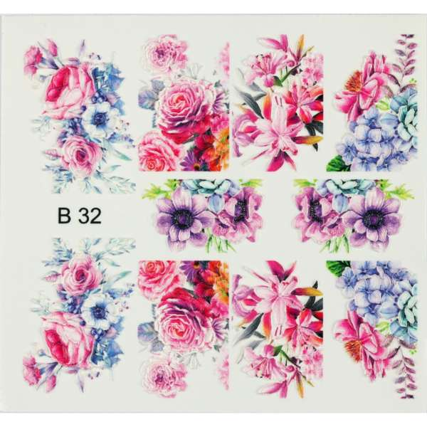 Nailart Sticker 3D - B32