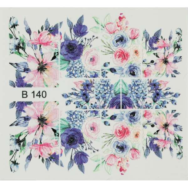 Nailart Sticker 3D - B140