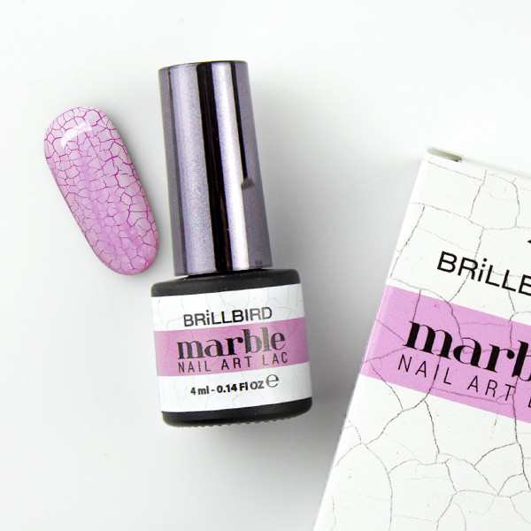 Marble Nail Art Lack - Crackle Lack White - 4ml