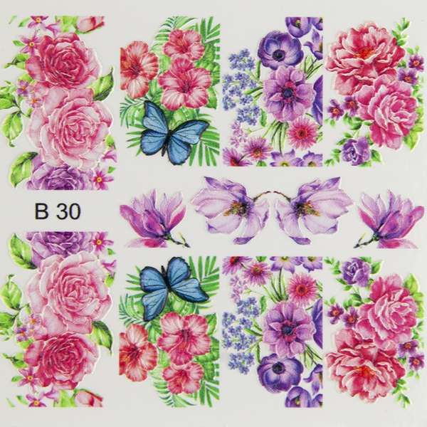 Nailart Sticker 3D - B30