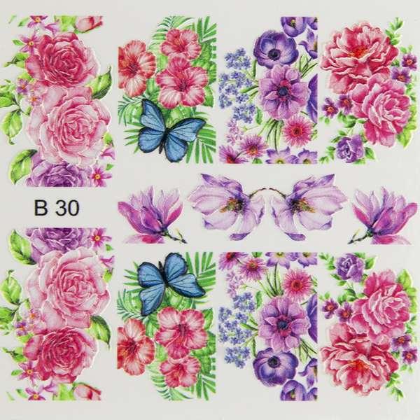 Nailart Sticker 3D - B30